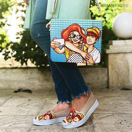 ست کیف و کفش دخترانه اسپرت