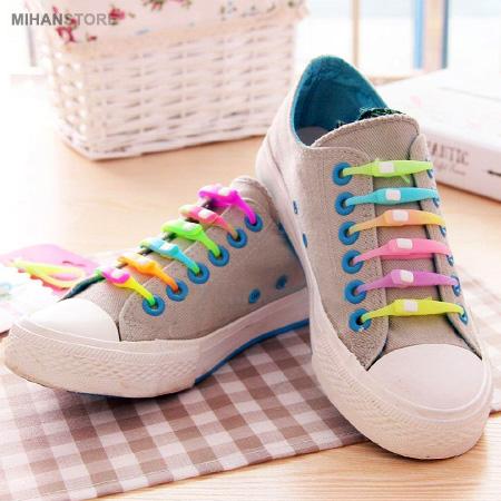 خرید بند کفش رنگین کمانی